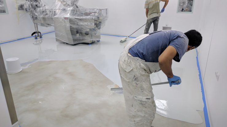 How To Ly Epoxy Floor Paint A 7