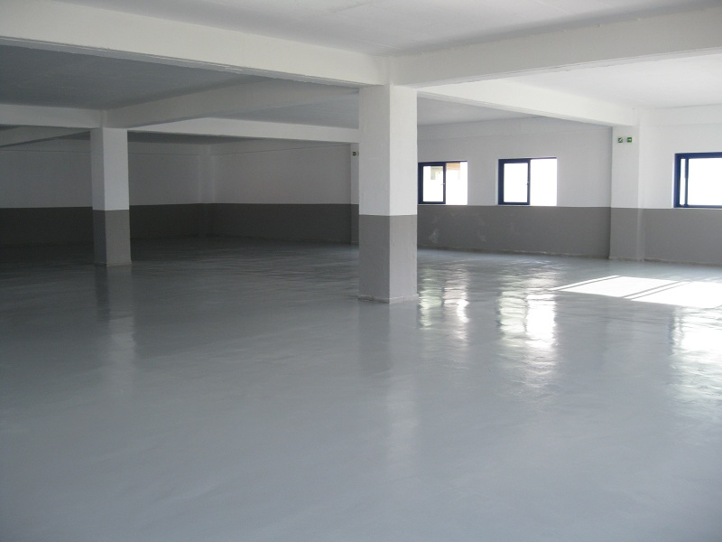 grey roller floor coating