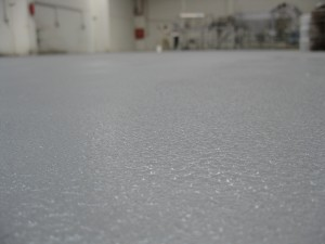 Anti-slip epoxy coated floor