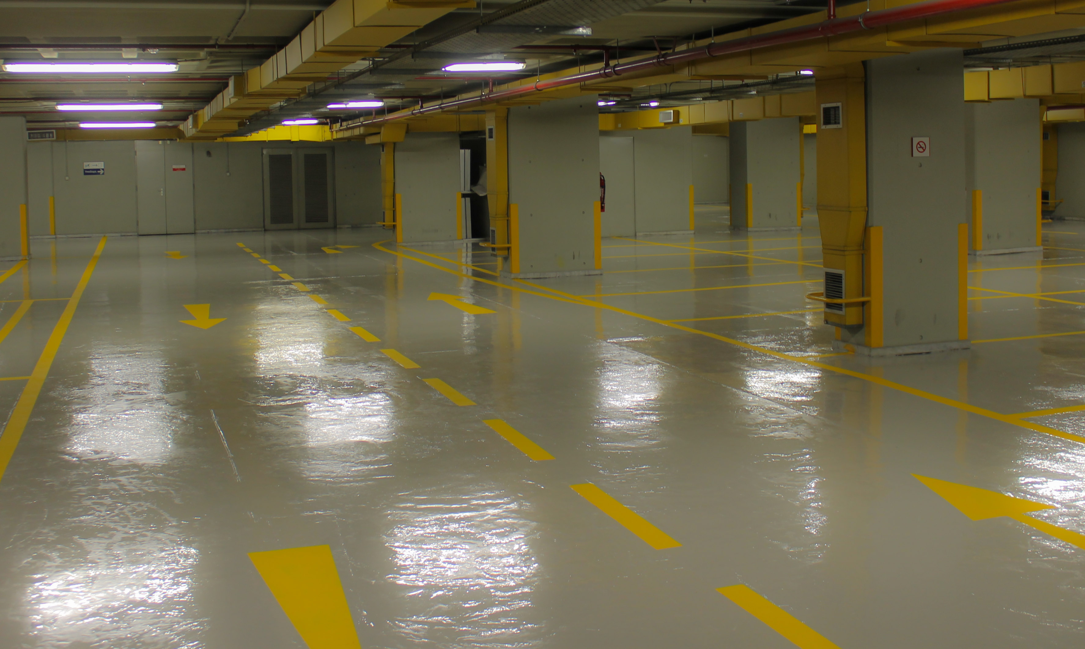pu floor in car park