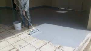 applying epoxy over tiles