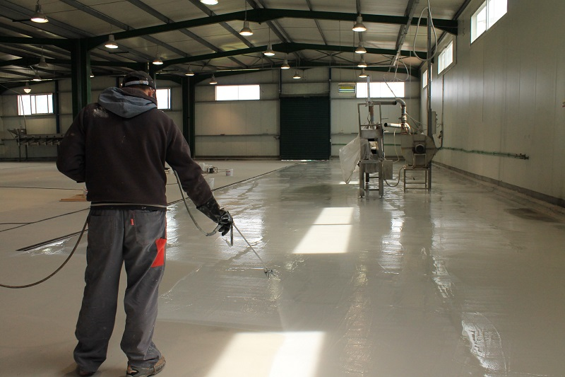 spraying epoxy coatings