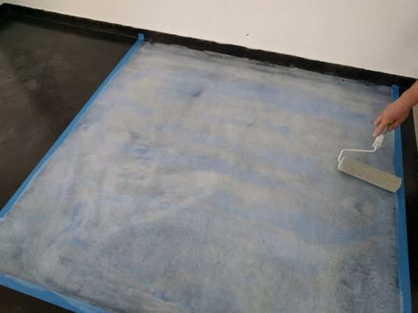 metallic epoxy application