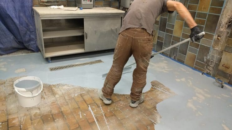 apply epoxy over tiles